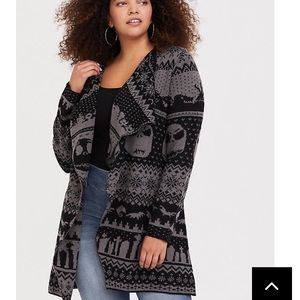 🎃Torrid Nightmare Before Christmas cardigan🎄 sz2
